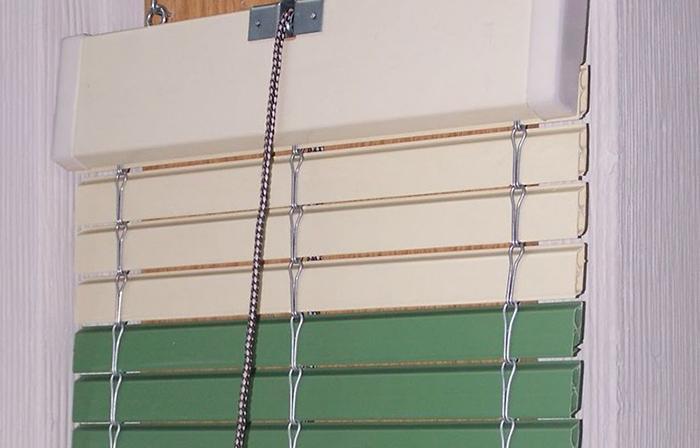 Persiana enrollable cadenilla PVC y Madera